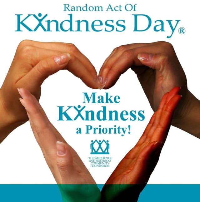Random Act of Kindness Day is Wednesday, Feb. 17.