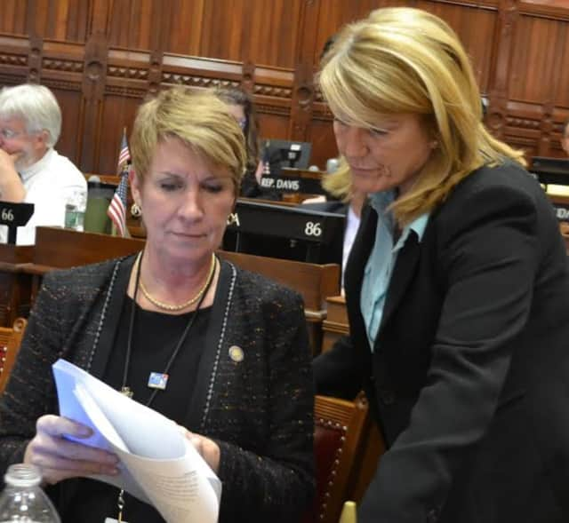State Reps. Brenda Kupchick and Laura Devlin, Fairfield Republicans.
