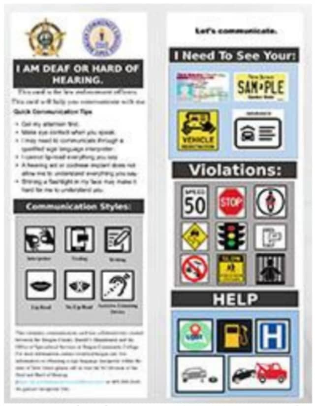 """The cards use words and pictures that """"outline the expectations or needs of the individuals on either side of the conversation,"""" Sheriff Anthony Cureton said"""