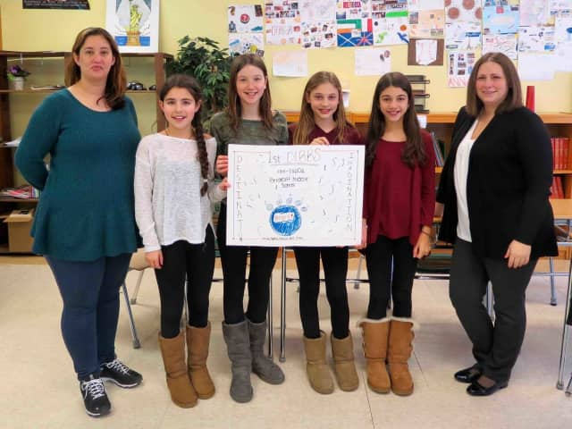 Briarcliff Middle School's Destination Imagination team competed at a regional tournament.