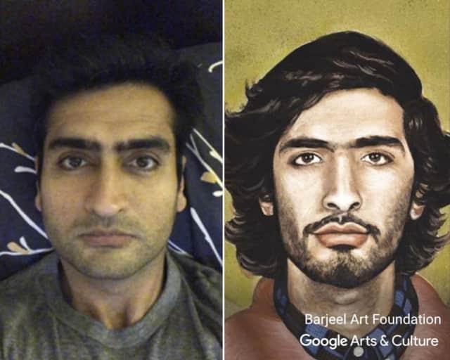 Actor Kumail Nanjiani found his art twin... who's yours?