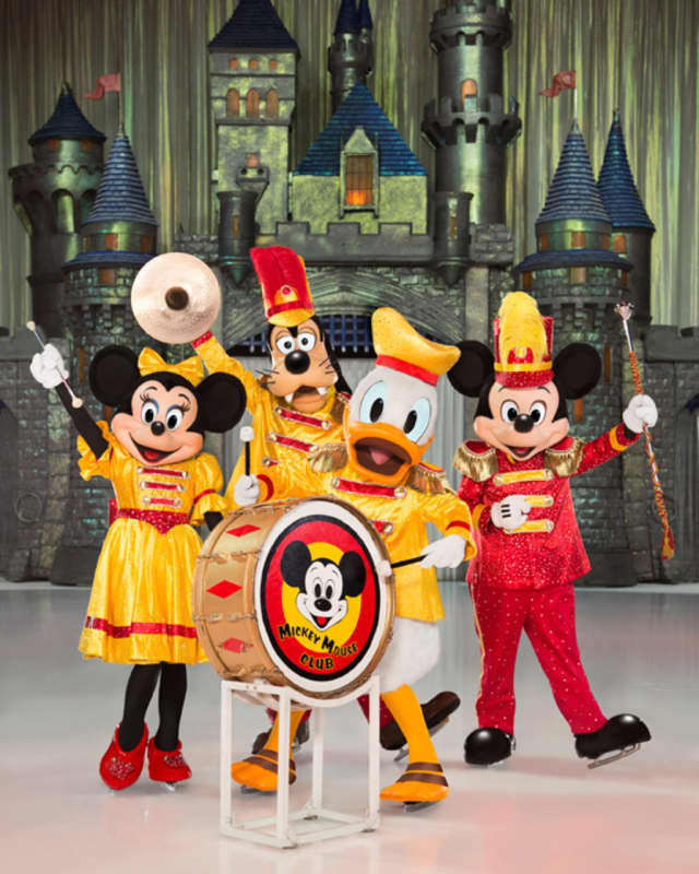 The Mickey Mouse Band perform at Disney on Ice: 100 Years of Magic.