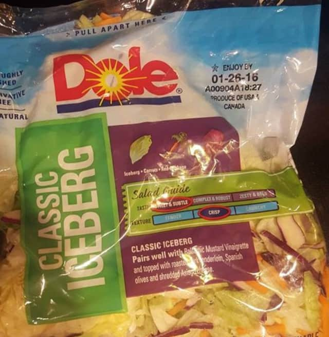"""The possibly affected salads can be identified by the letter """"A"""" at the beginning of the manufacturing code found on the package, the CDC said."""