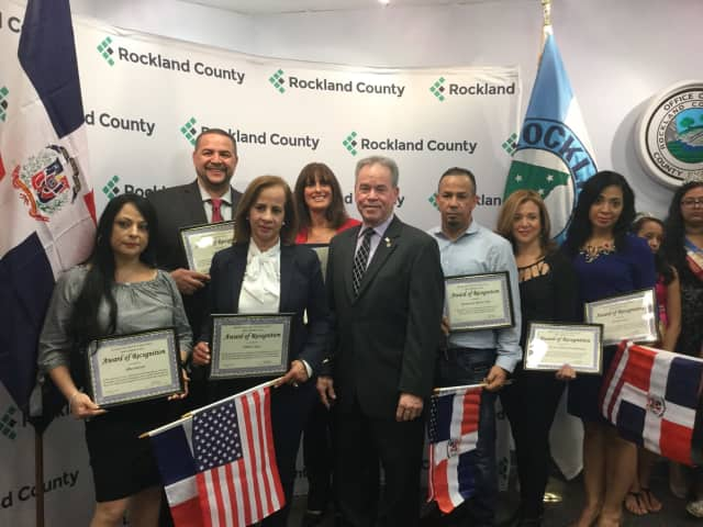 In honor of Dominican Independence Day, Rockland County Executive Ed Day recognized five local business people and two organizations.