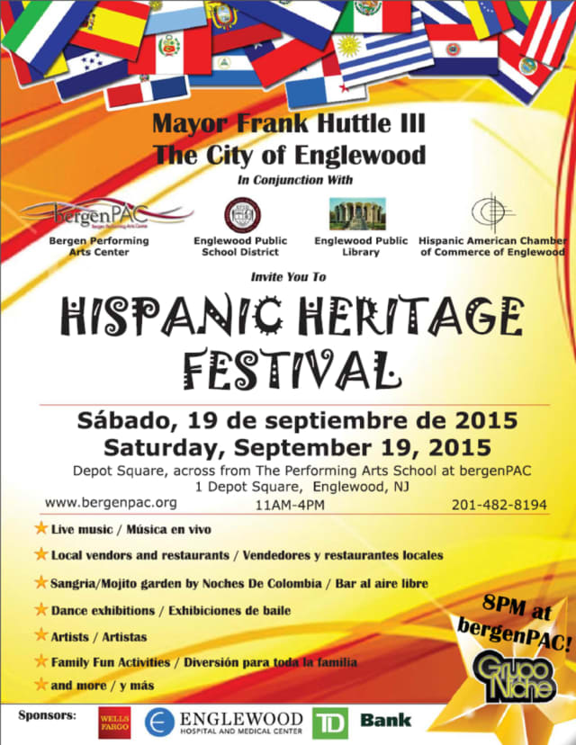 The Hispanic Heritage Festival will take place Sept. 19.