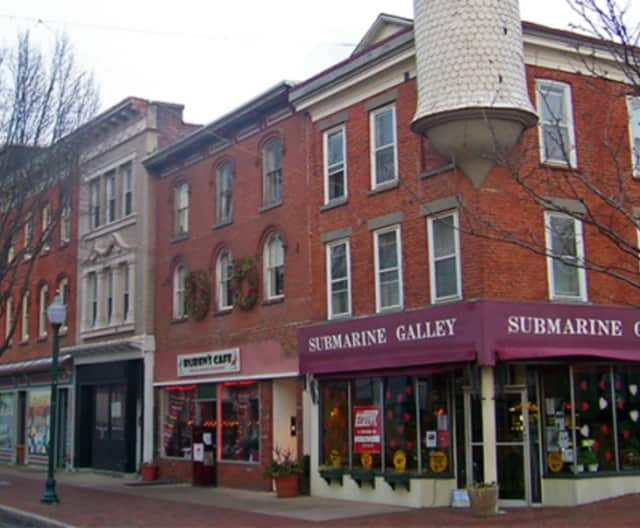 Storefront windows in Peekskill will be painted for the holidays on Thursday.
