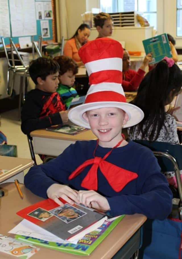 Students celebrate the birthday of Dr. Seuss
