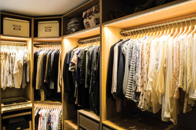 For women, a walk-in closet can be their own private space.