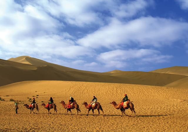 Echoing Hill, a desert outside Dun Huang, China, on the Old Silk Road. Courtesy dreamstime.com.