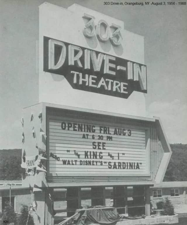 "The 303 Drive-In Theatre opened in Orangeburg in 1956 with ""The King and I"" and a Disney film."