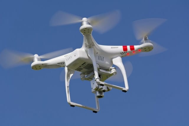Drones like this one are being flown over the Village of Mamaroneck to get a count of the deer population.