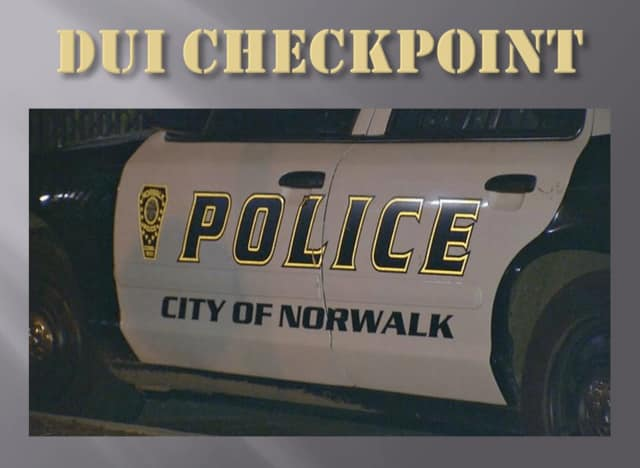 Norwalk Police will hold a DUI checkpoint on Wednesday night