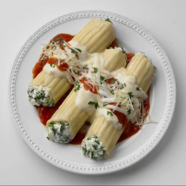 Manicotti is one of the items on the menu this Saturday at the Dumont's Knights of Columbus' Italian Night.