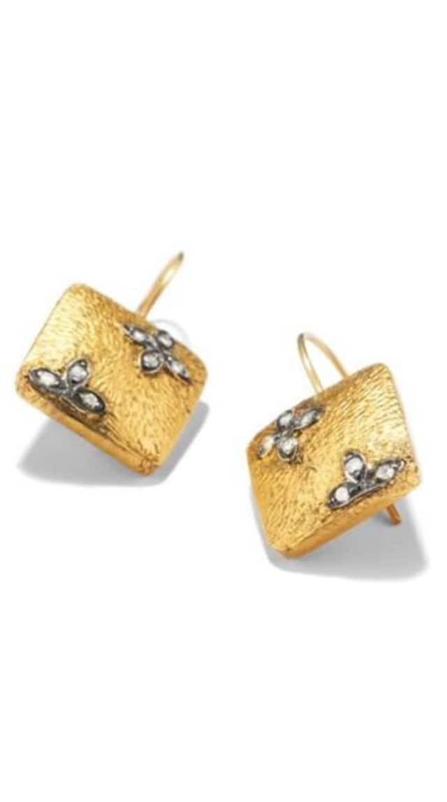 Gold Square Drop earrings will be raffled off at the New Canaan Nature Center preview party, compliments of Ash and Ames.