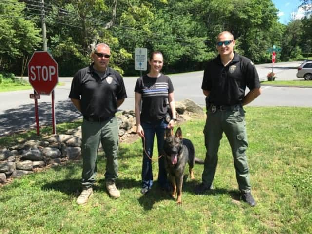 The Easton Police Department welcomed its new K-9 T.J. to the force on Monday.