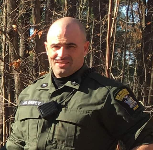 DEC Officer James Davey is in stable condition after being shot when a hunter mistook him for a deer.