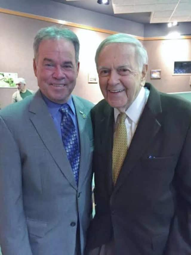 Rockland County Executive Ed Day, left, and sportscaster and South Nyack resident Bob Wolff