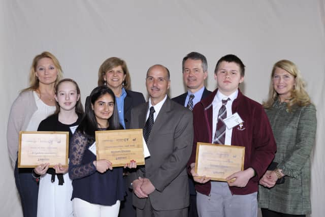 Eighth grader Mariam Ghaloo of Darien took second place at the 12th annual eesmarts student contest at the State Capitol.