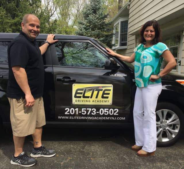 Stacey and Matthew Rennie of Elite Driving  Academy in Woodcliff Lake.
