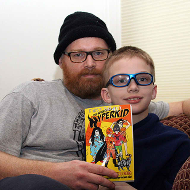 "Richard, left, and Emerson Daub have written a book about how it feels being ""different."""