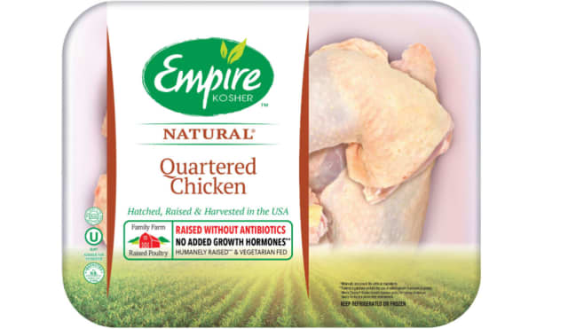 The Empire Kosher Poultry, Inc. products affected -- which may include raw whole chicken, raw chicken parts, -- were produced and sold to consumers from last September until this past June, the U.S. Department of Agriculture's Food Safety and Inspect