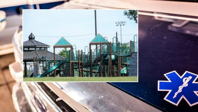 The victim, 65, was taken from the Overpeck Park playground in Ridgefield Park to Hackensack University Medical Center.