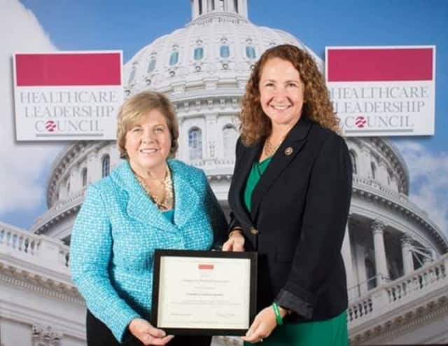 Congresswoman Elizabeth Esty with Mary Grealy, president of the Healthcare Leadership Council.