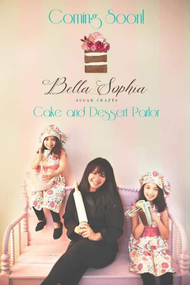 Eva Rivera, shown with her two young daughters, recently opened Bella Sophia Sugar Crafts in Haverstraw.