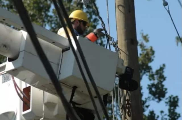Power outages were reported in Fairfield County on Sunday.