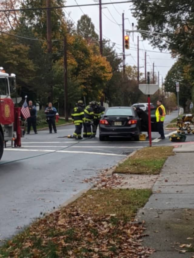 The crash occurred around 2:30 p.m. at Henley Avenue and Boulevard in New Milford.