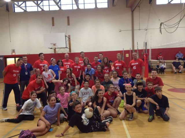 South Orangetown Middle School students and staff took part in a charity volleyball game to help raise funds for the Jimmy Hauburger Memorial Foundation.