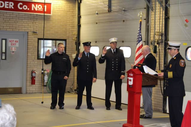 A swearing-in ceremony was held for recently promoted and new members of the Fairfield Fire Department.