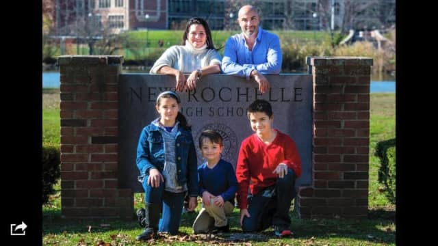 StacyAnn Melillo-Keiler with her husband, David, and three kids.