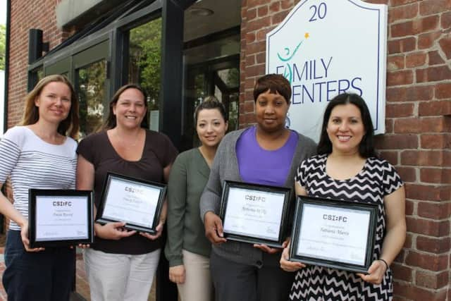 Family Centers' 2016 CSI Ambassadors (l-r) Aneta Rostek, Tracey Eckert, Nidia Silva, Roberta Wilks and Fabiana Marin.