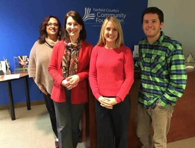 The Giving Day team, from left: Marie Pronesti; Elaine Mintz; Kristy Jelenik, Giving Day Program Manager; and RJ Mercede.