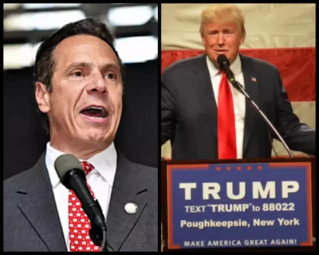 New York Gov. Andrew Cuomo and President Donald Trump.