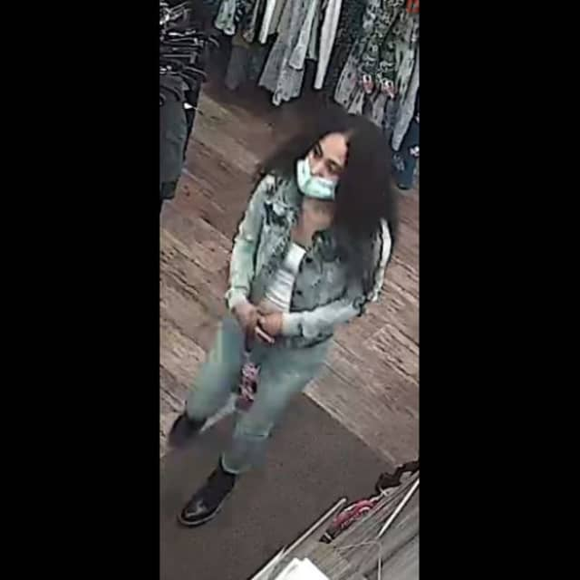 The woman accused of stealing a $275 wallet from Plato's Closet/Style Encore on West Lincoln Highway.