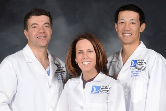 Fertility specialists from left to right are Ali Nasseri, Keri Greenseid, and Dehan Chen work for The Valley Hospital Fertility Center.
