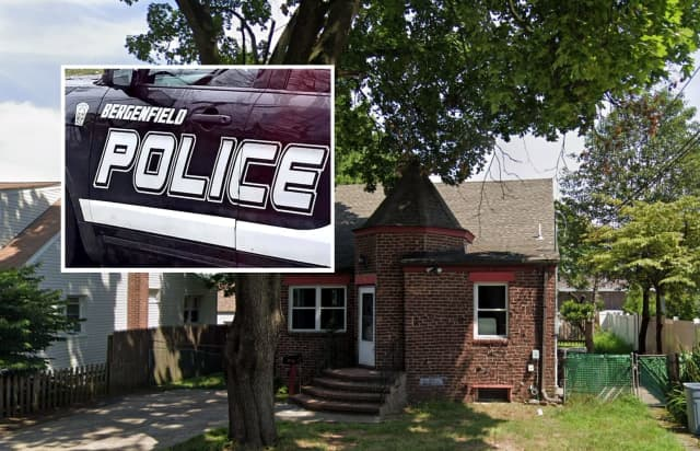 The package was delivered to a vacant house, Bergenfield police said.