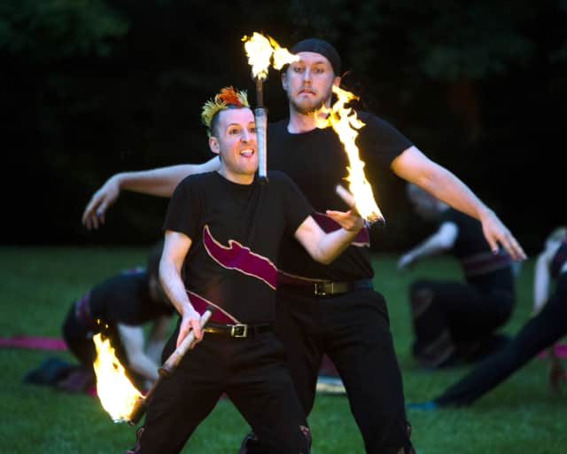 A Different Spin, part of the Boston Circus Guild, will perform at A Night on Fire.