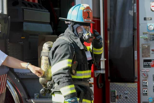 Firefigthers from Monroe, Stepney and Stevenson fought the Wednesday morning structure fire.