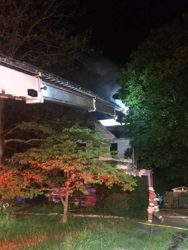 A home on Elm Street was heavily damaged in a fire Wednesday night.