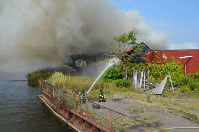 A huge fire at an abandoned factory near the water and I-95 in Bridgeport topped the week's news.