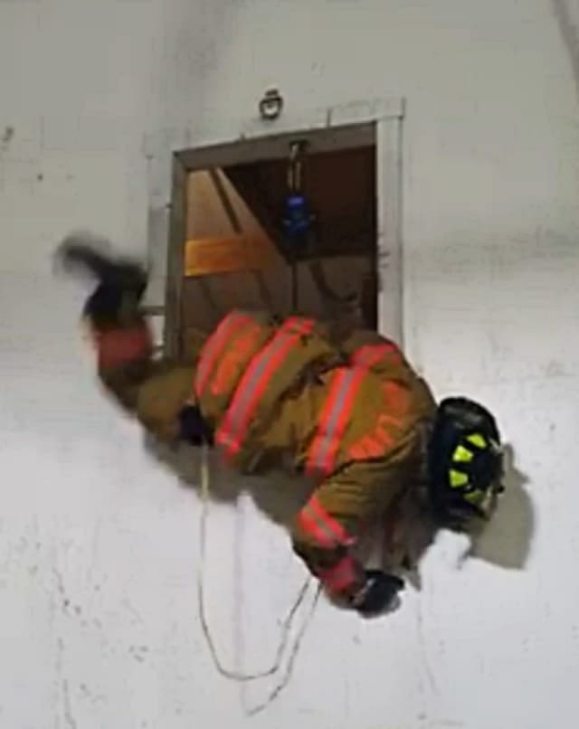 Fair Lawn firefighters recently participated in bail-out training.