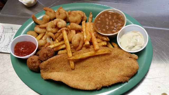 A fish fry diner is offered at First United Methodist Church of Shelton.