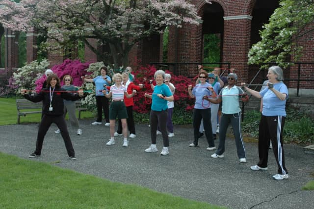 At the Burke Fitness Center, older residents can work up a sweat in a fun and less intense setting than a normal gym.