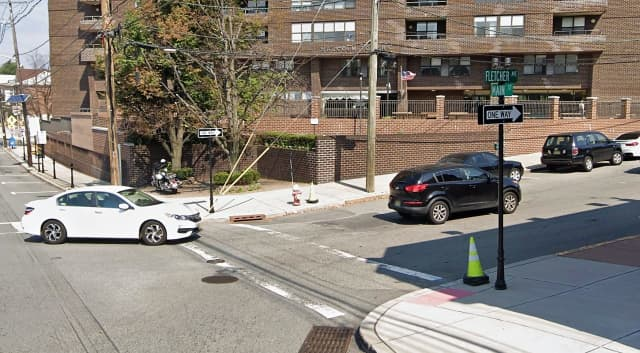The driver was turning onto southbound Fletcher Avenue from eastbound Main Street when the crash occurred in Fort Lee, police said.