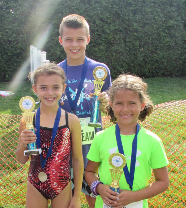 "Happy faces from a former Franklin Lakes Youth ""Splash and Dash"" Biathlon."