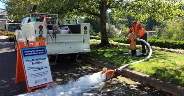 The Ringwood Water Department will be flushing water mains throughout town in October.