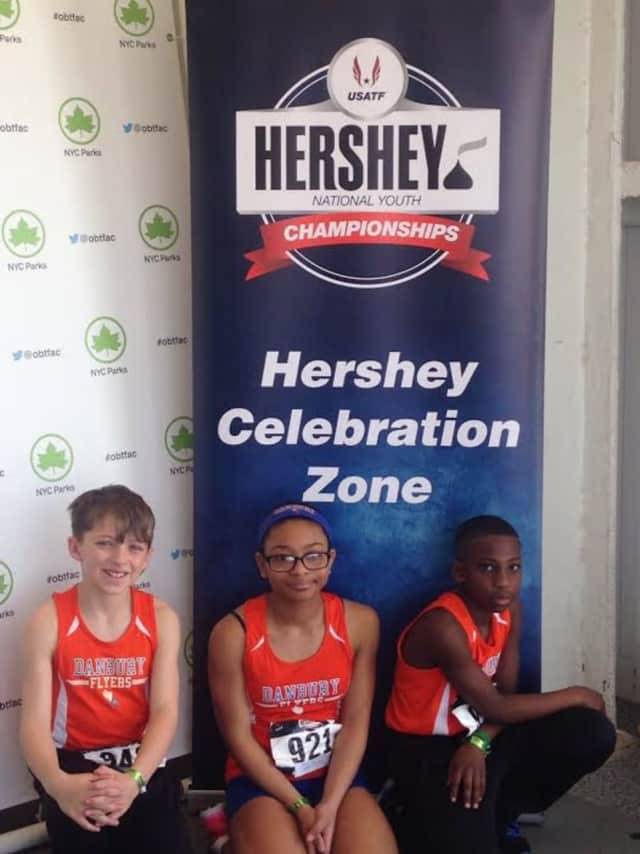 Danbury Flyers (left to right) Jackson Sorbello, Kimberleigh Williams and Julian Farmer-Campbell were selected to participate in a Nike focus group.